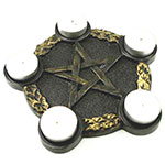 Pentagram Altar Tealight Holder